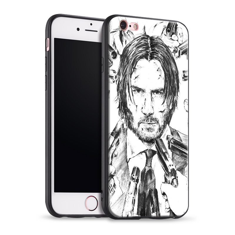 Keanu Reeves John Wick For Apple IPhone X 8Plus 8 7Plus 7 6SPlus 6s 6Plus 6 Se 5s 5 Tpu Soft Silicone Phone Case Cover Shell ...