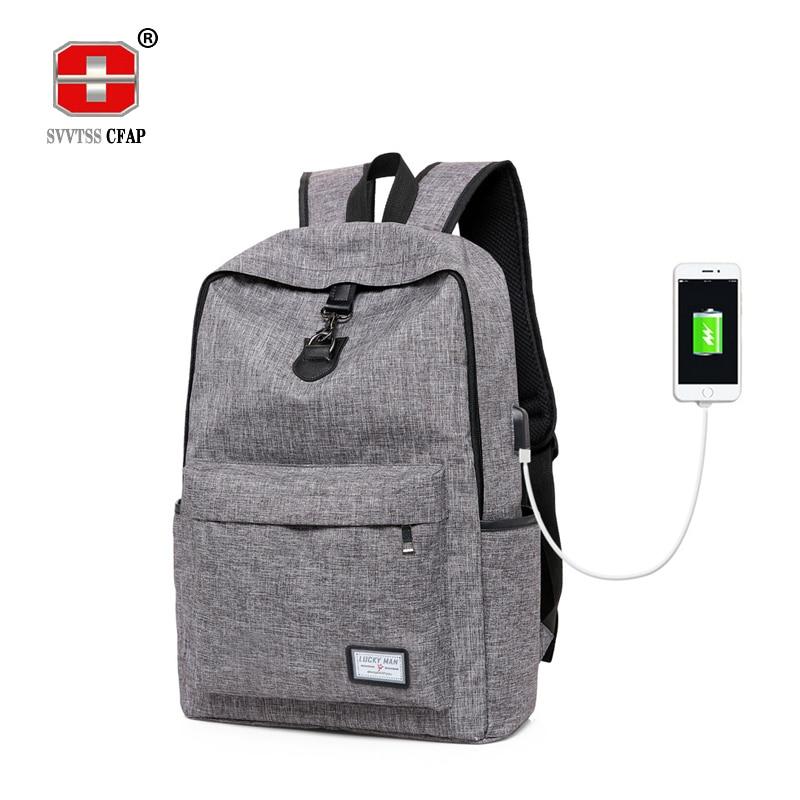 Women Backpack School Bags Girls Boy Unisex Casual SchoolBag Rucksack Daypack Canvas Laptop Backpacks Usb Men Book Bags