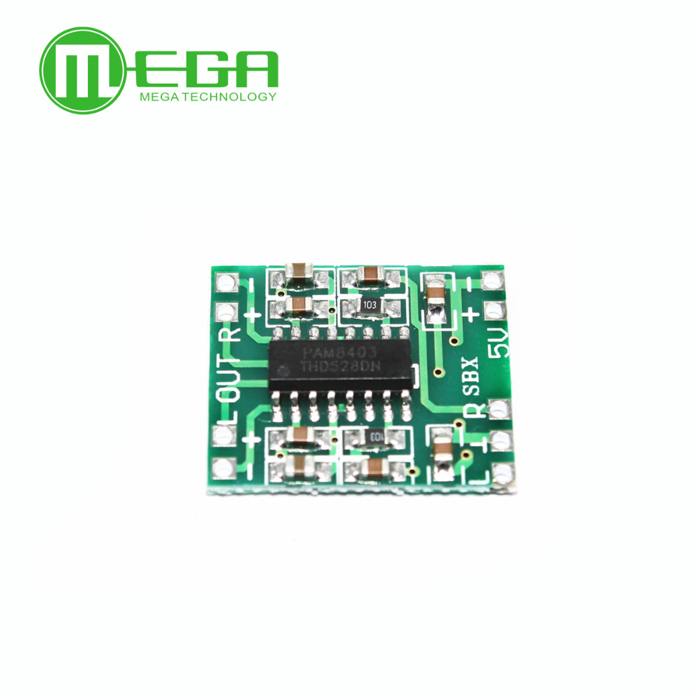 50pcs PAM8403 module Super mini digital amplifier <font><b>board</b></font> 2 * 3W Class D digital amplifier <font><b>board</b></font> efficient 2.5 to <font><b>5V</b></font> USB power image