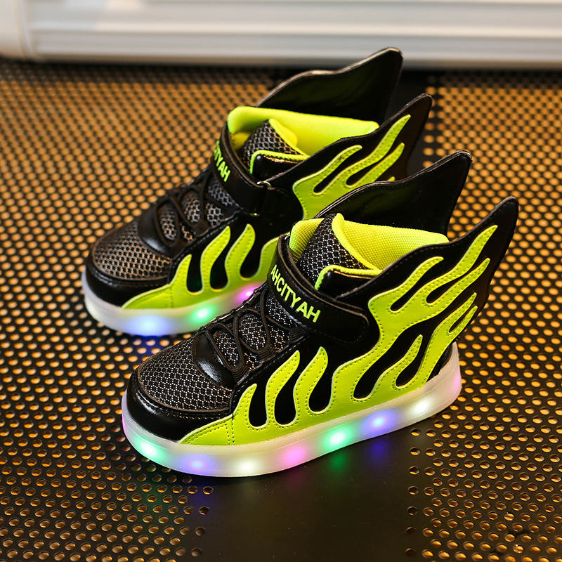 Children Luminous Shoes Sneaker Glowing Sneakers Girls Boys Kids Shoes Baby Led Light Up Sports Casual Running Lights Breathable