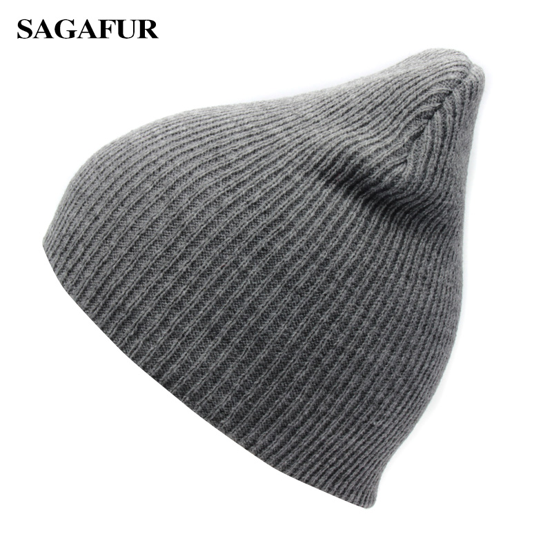 Solid Color Unisex Knitted Hat Female Warm Casual Ski Hat Boy Autumn Winter Cap Women Hip Hop Bonnet Plain   Skullies     Beanies   Men