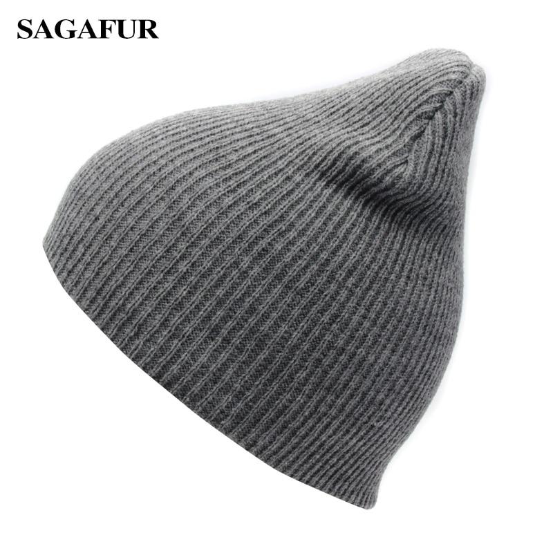 Solid Color Unisex Knitted Hat Female Warm Casual Ski Hat Boy Autumn Winter Cap Women Hip Hop Bonnet Plain Skullies Beanies Men