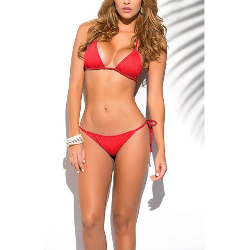 Solid Thong Bikini