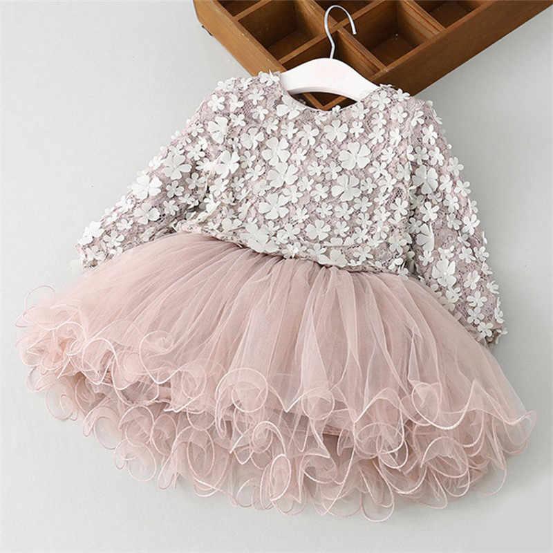 bfcb0ef3a67 Для девочек осень-зима лепестки платье с фатиновой юбкой новое платье  принцессы кружева Платье с