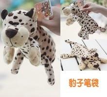 Plush toy cute 1pc 25cm forest happy leopard school fashion bag pencil case toy children gift