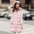 Novo outono e inverno para baixo casaco de algodão longa seção de a versão Coreana do Magro espessamento Das Mulheres quentes de algodão casaco