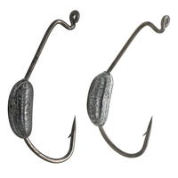 Wholesale 20Pcs Lead Weight Crank Hook Fishing Hooks Jig Fishhook For Soft Lure Bait Fishing Tackle