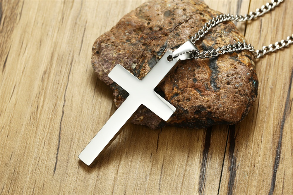 Simple Cross Pendant for Men Necklace