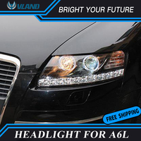 Car Head Lamp For Audi A6L Headlights 2005 2011 DRL Front Lamp