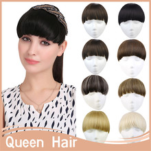 1PC Clip In Hair Bangs Extension Fringe Fake Synthetic Hair Bang Front Bang Hairpieces Hair Piece B7 Mutlicolor