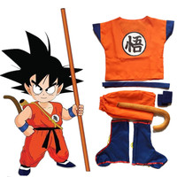 Dragonball Dragon Ball Z Kids Son Goku Master Roshi Shirts Pants Jacket Cosplay Costume Halloween Kongfu
