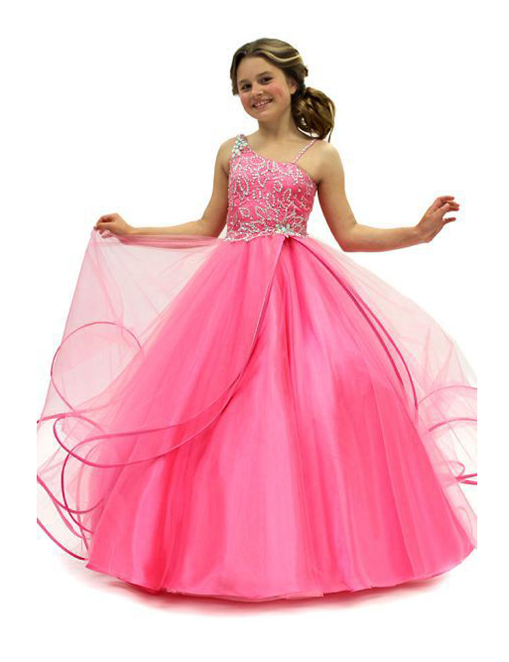 Popular Hot Pink Flower Girl Dress-Buy Cheap Hot Pink Flower Girl ...