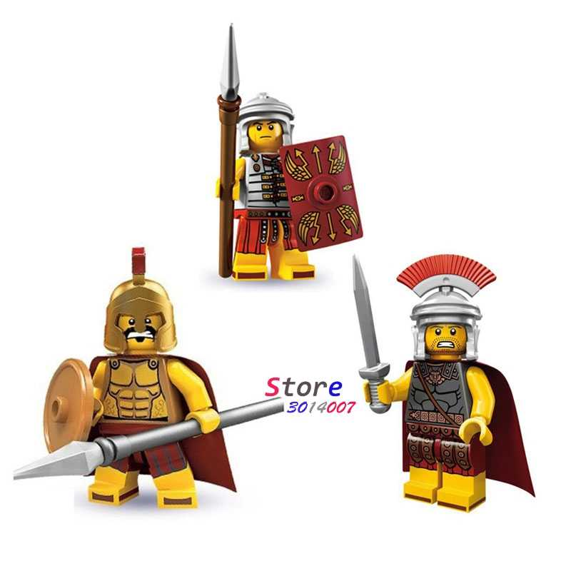 1pcs Romeinse commander s Spartan Mesoid bouwstenen action figure sets model bricks speelgoed voor kinderen