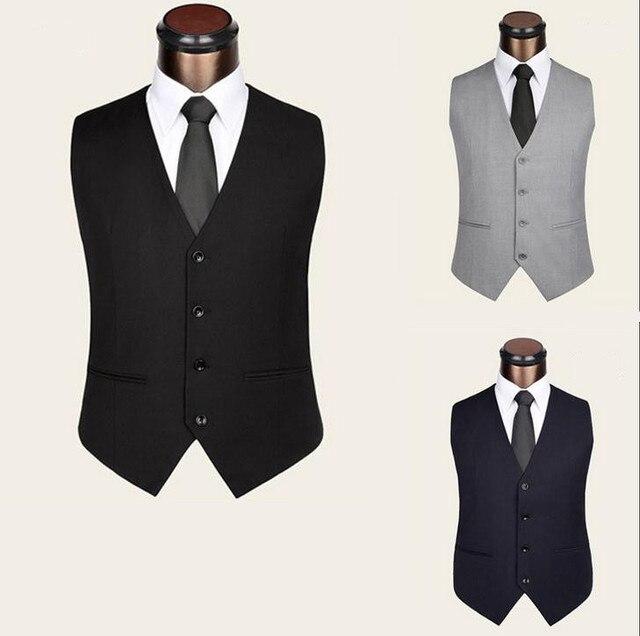 Autumn New Men Vest  Fashion Slim Fit Leisure Suit Vest  Man waistcoats Tops Plus Size XS-5XL Vests