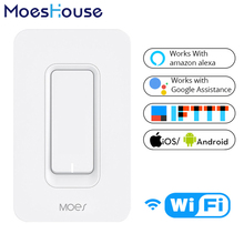 US WiFi Smart Wall Light Switch Mobile APP Remote Control No Hub Required Works with Amazon Alexa Google Home IFTTT