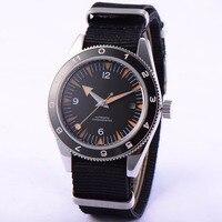 41 мм debert черный циферблат orange руки 21 jewels miyota Автоматическая Мужские часы