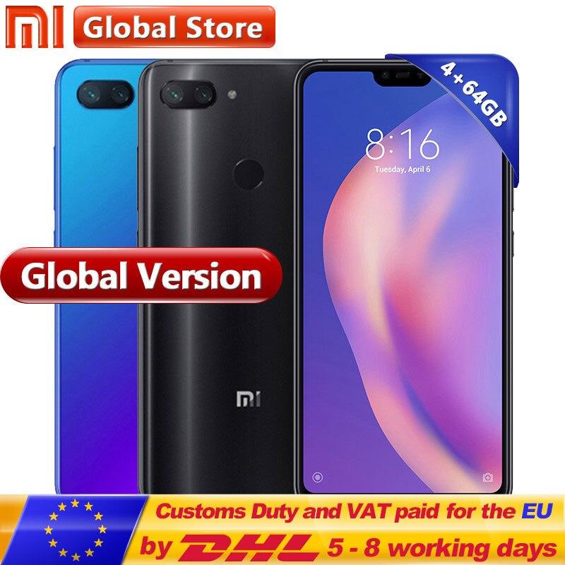 Глобальная версия Xiaomi Mi 8 Lite 4 ГБ 64 ГБ мобильный телефон Snapdragon 660 Octa Core 24MP Фронтальная камера 6,26 дюймов 19:9 полный Экран