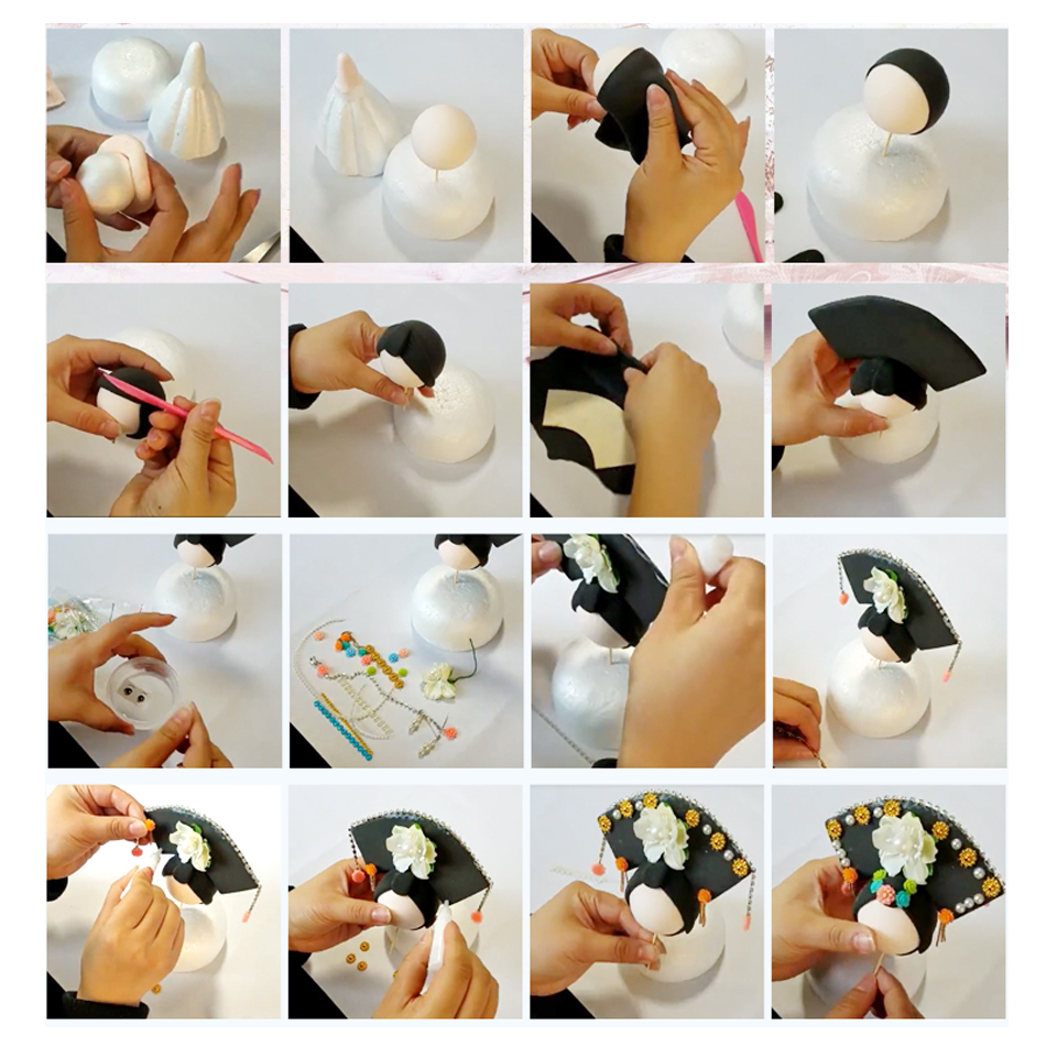 DOLLRYGA Slime Doll Set DIY Handwork Clay Chinese Traditional Doll with Dress and Headwear Christmas Birthday Gift For Girls
