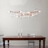 Творческий пузырь светодио дный подвесные светильники для комнаты бар прозрачного стекла абажур, Лофт подвесной светильник современные св