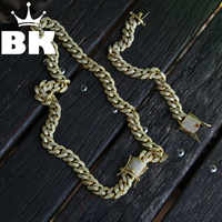 DIE BLING KÖNIG 13mm CZ Kubanischen Kette & Armband Set Gold Silber Farbe Hip Hop Micro Gepflasterte Zirkonia shiny Kupfer