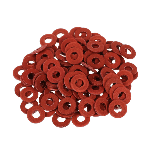 100PCS Red Motherboard Screw Insulating Fiber Washers