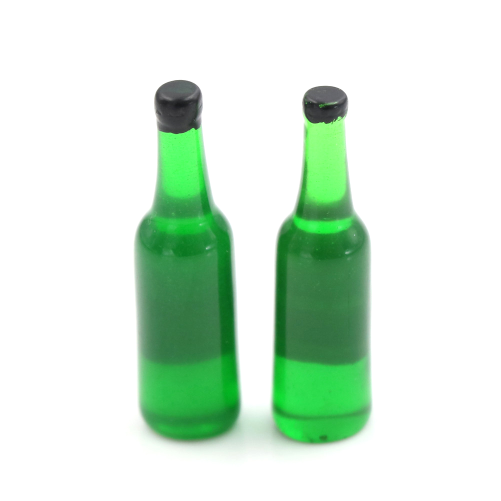 2pcs/lots  new style 1:12 Scale Beer Wine Drink Bottle Dollhouse Miniature Toy Doll Food Kitchen Living Room Accessories