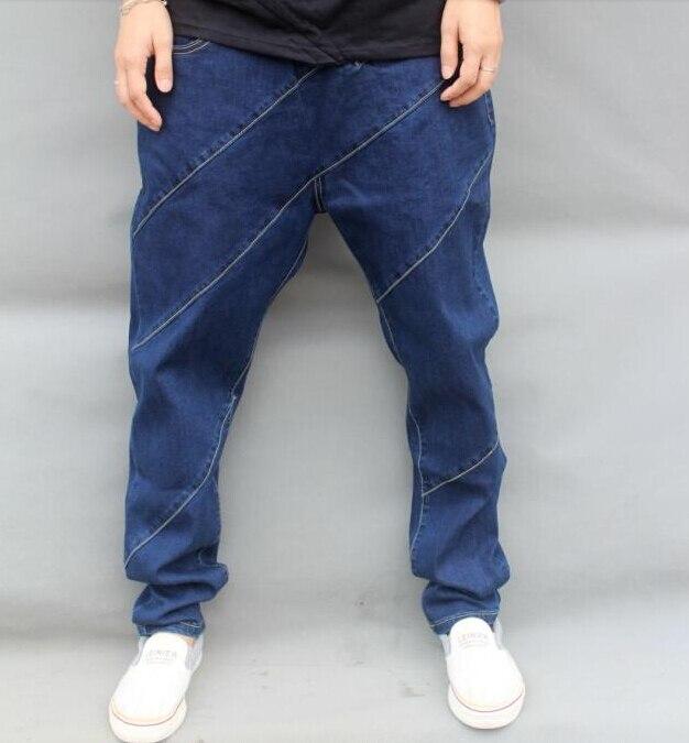 ФОТО Men hip hop jeans skateboard men baggy jeans denim hit hop pants  casual loose jeans rap street wear