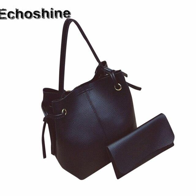 a161241c4a 2016 new arrive Women Leather Handbag Tote Purse Cross Body Messenger  Shoulder Bag+Clutch Bag gift wholesale A0000