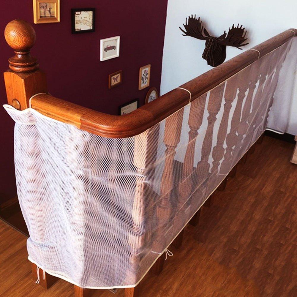 Детская безопасная железная Балконная Лестница защитная сетка для лестничных ограждений для детей/домашних животных/игрушек безопасность на крытых/наружных лестницах, балкон - Цвет: Bionic honeycomb 3M