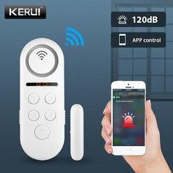 KERUI WIFI Door Alarm System APP Control Home Security Alarm 120dB Window Sensor Password Required Burglar Alert Security System
