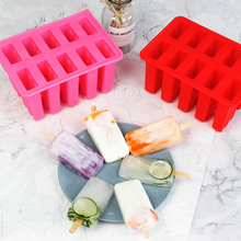 10 Cavity Ice Cream DIY Mold Makers Silicone Thick material Simple Molds Cube Chocolate Dessert Tray With Popsicle