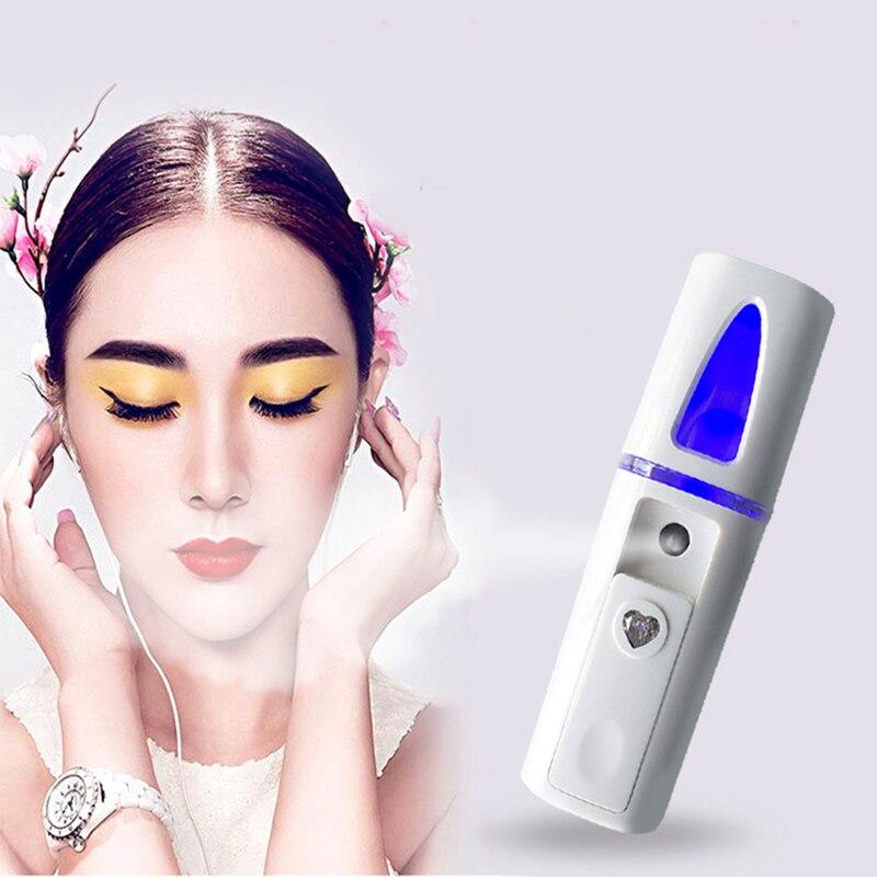1PC Portable Nano Mist Sprayer Facial Body Nebulizer Steamer Moisturizing Skin Care Mini Face Spray Beauty Instruments Device