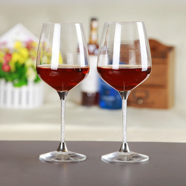 Glassware red wine goblet glass for wedding party crystal ...