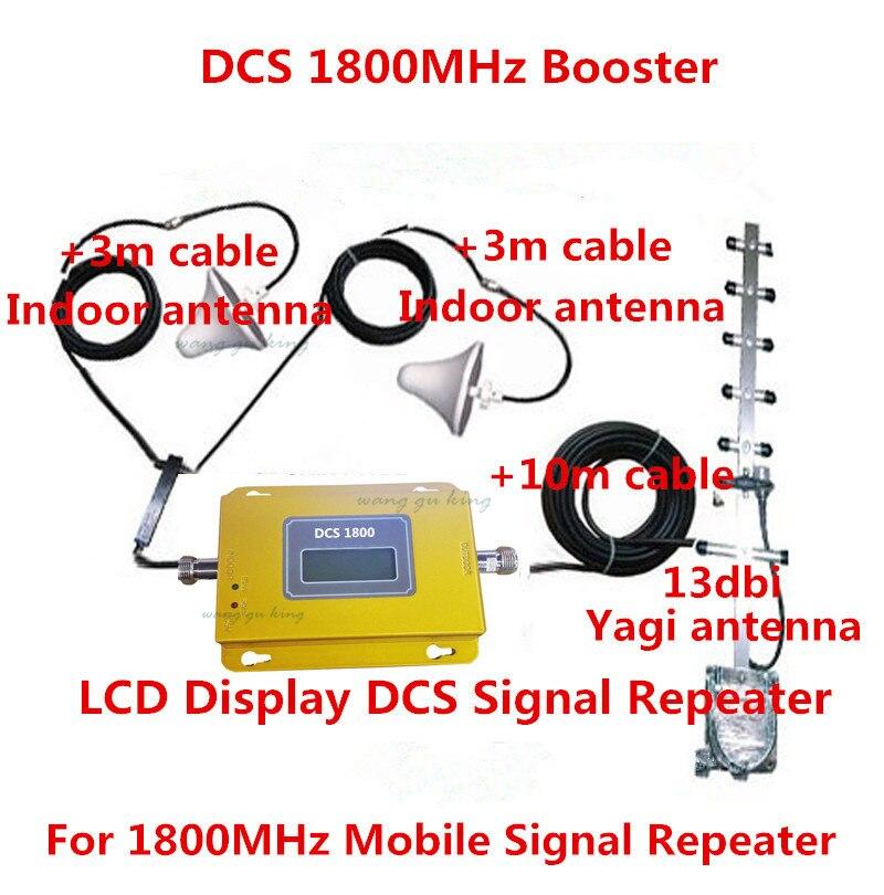 Display LCD! Mini DCS 4G LTE FDD 1800 MHZ segnale mobile ripetitore, DCS cellulare signal booster + 2 antenne a soffitto per la casa/offiDisplay LCD! Mini DCS 4G LTE FDD 1800 MHZ segnale mobile ripetitore, DCS cellulare signal booster + 2 antenne a soffitto per la casa/offi
