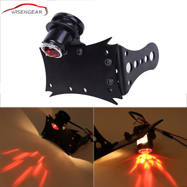 Motorcycle Tail Light License Plate Holder Cafe Racer Lamps For Yamaha Virago 250 WR250F Kawasaki KDX