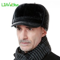 2017 New Warm Bomber Hats Men Quality Russian Snow Hat Men Winter Hat Caps with Earflaps Retro Faux Fur Thicken Outdoor Bonnet