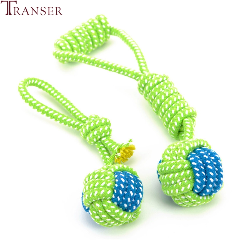 Transer Pet Supply Dog Toys Dogs Chew Teeth Clean Outdoor Traning Fun Playing Green Rope Ball Toy For Large Small Dog Cat 71229 #3