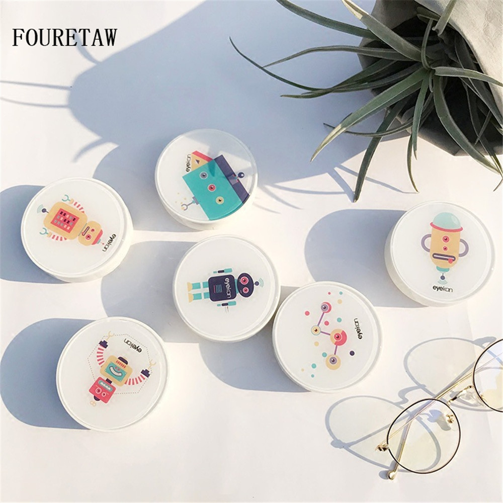 Fouretaw 1 Set Cute Style Cactus Pattern Pocket Mini Contact Lens Case Travel Kit Easy Carry Mirror Mirror Container Men's Glasses Back To Search Resultsapparel Accessories