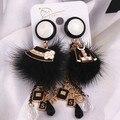 Eh387 borla larga famosa marca de lujo del encanto de nueva 2016 joyería brincos boucles d'oreilles bijoux pendientes cuelgan para mujeres