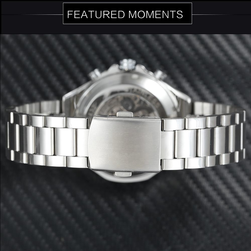 WINNER Vintage Fashion Men Mechanical Watches Metal Strap Top Brand Luxury Best Selling Vintage Retro Design Wristwatches +BOX 25