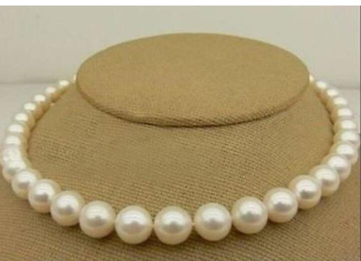 HOT AAA 10-11MM WHITE PEARL NECKLACE 18inch YELLOW CLASP 36 наволочки other 45 45 18inch
