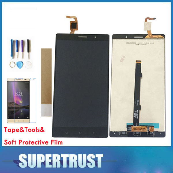 1PC/Lot For Lenovo PHAB 2 PB2 650N PB2 650M PB2 650Y LCD Display+Touch Screen Digitizer Assembly Black Gold Color