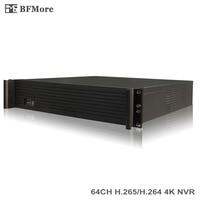 BFMore 64CH UHD NVR H 265 H 264 4K 5MP 3MP 2MP 960P 720P 2U 9HDD