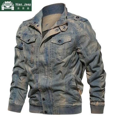 New Spring Military Denim Jacket Men Plus Size 6XL Bomber Jackets Male Jaqueta Masculina Slim Fit Fashion Vintage Jeans Jackets Pakistan