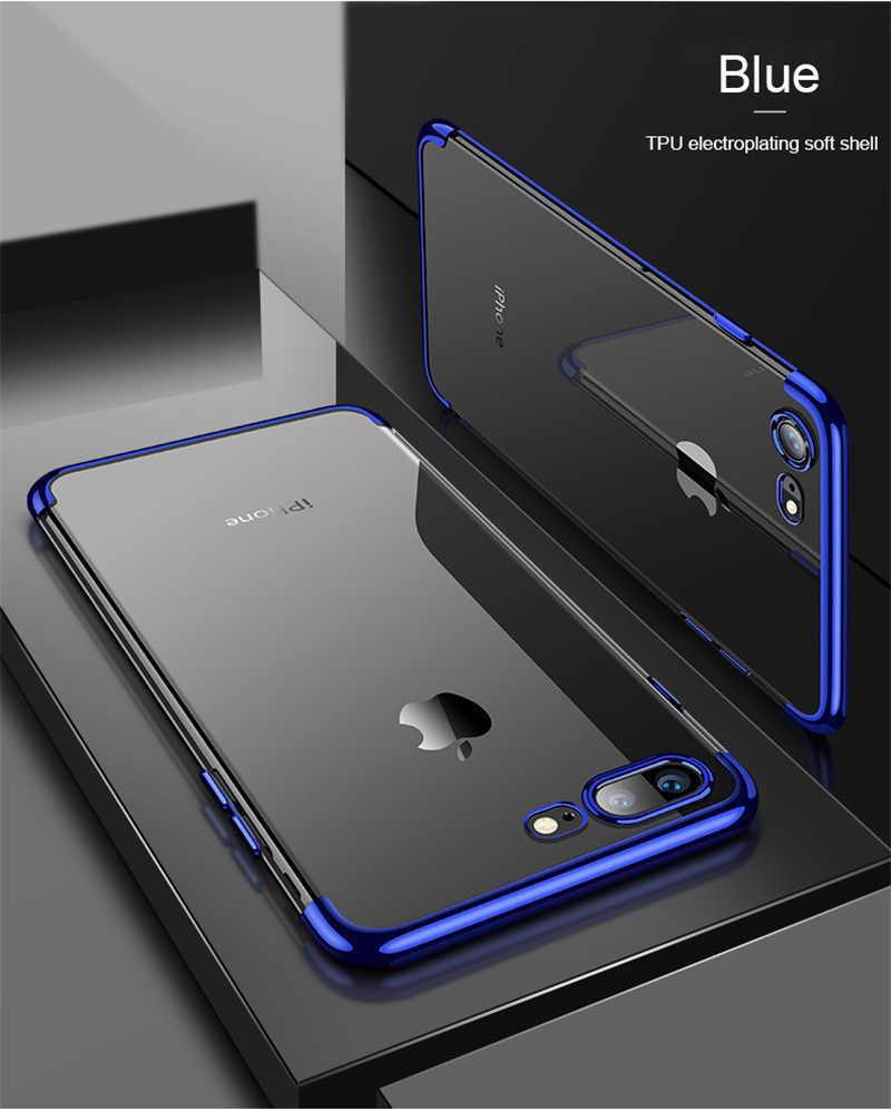 סיליקון ברור רך מקרה עבור iPhone X 10 XR XS מקסימום iPhone 6 s 6 s 7 8 6 בתוספת 6 SPlus 7 בתוספת 8 בתוספת יוקרה דק טלפון סלולרי כיסוי