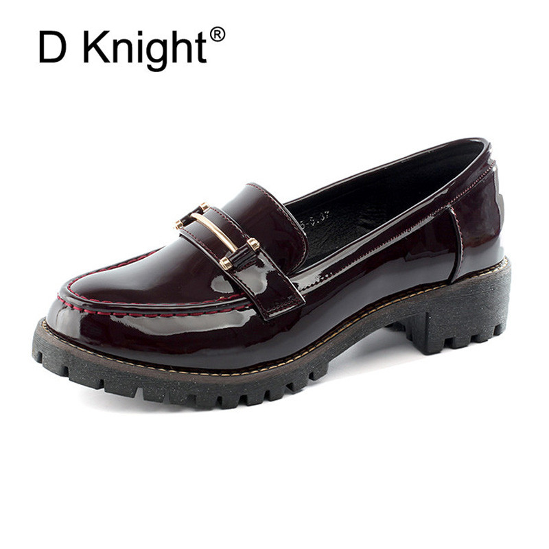 Sweet Patent Leather Women Slip-on Casual Flat Oxford Shoes Fashion Girl Flat Shoes Round Toe Loafers Shoes Women Big Size 34-42 fashion tassels ornament leopard pattern flat shoes loafers shoes black leopard pair size 38