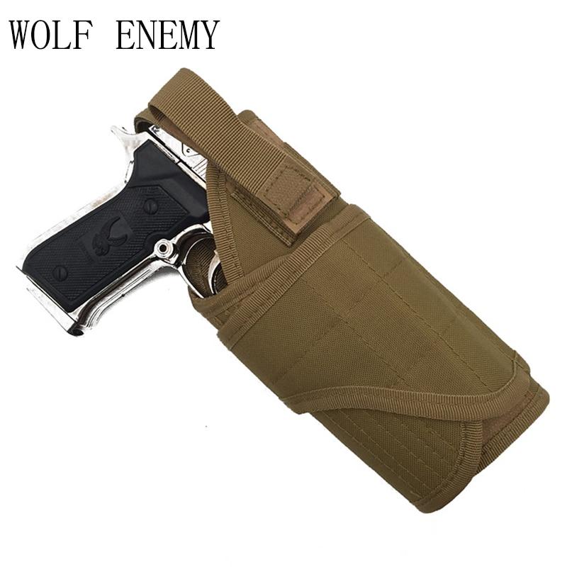 WOLF ENEMY Tactical Pistol Pravá rukavice Pouzdro Nastavitelné Airsoft Lovecké pouzdro Tornado více MOLLE Vertical