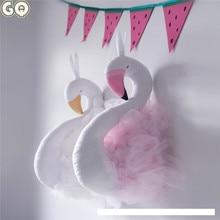 3D Mur Suspendus Décorations Mignon Flamant Rose En Peluche Poupées Porcine Poupée Enfants Chambre Mûr Mariages D'anniversaire Jouets Cadeaux