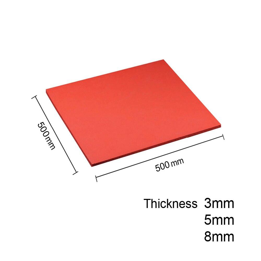 500mm*500mm Phone Repair Silicone Rubber Mat High Temperature Resistant Soft Foam Board Pressure Pad Machine Rubber Gasket