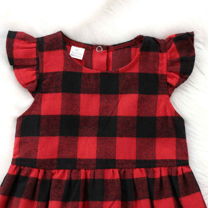 Клетчатое платье; платье в клетку для маленьких девочек; праздничное хлопковое платье с короткими рукавами для маленьких детей; сарафан без рукавов